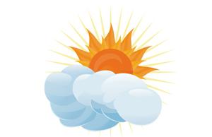 Sol com Nuvens